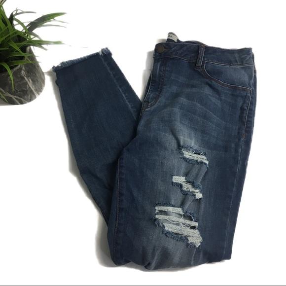 50796ce999a06 Refuge Plus Skin Tight Legging Destroyed Jeans